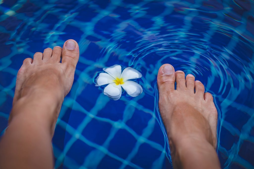 Fußbad zur Entspannung
